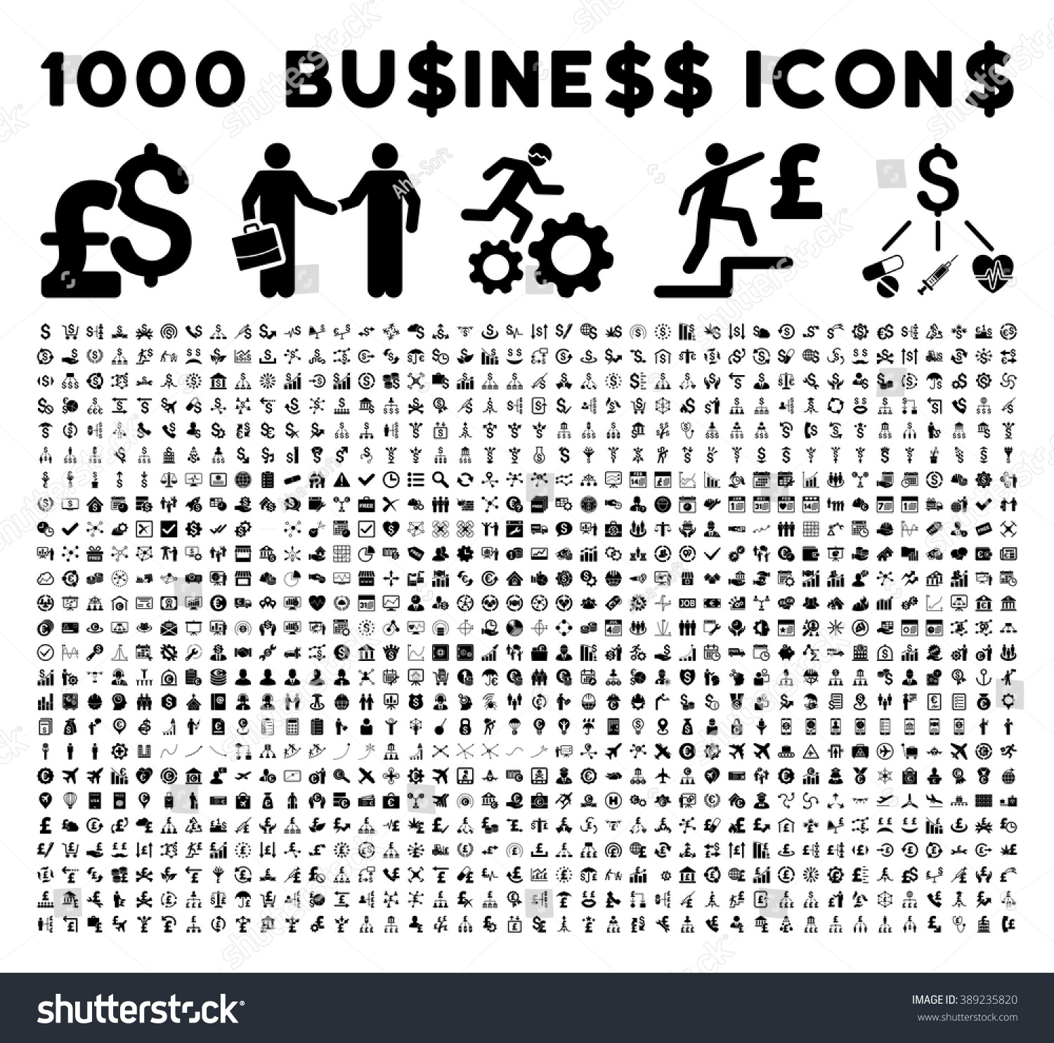 1000 Business Icons Bank Service Pictograms 389235820 on Insurance Symbol Of A Shield With Dollar Sign Free