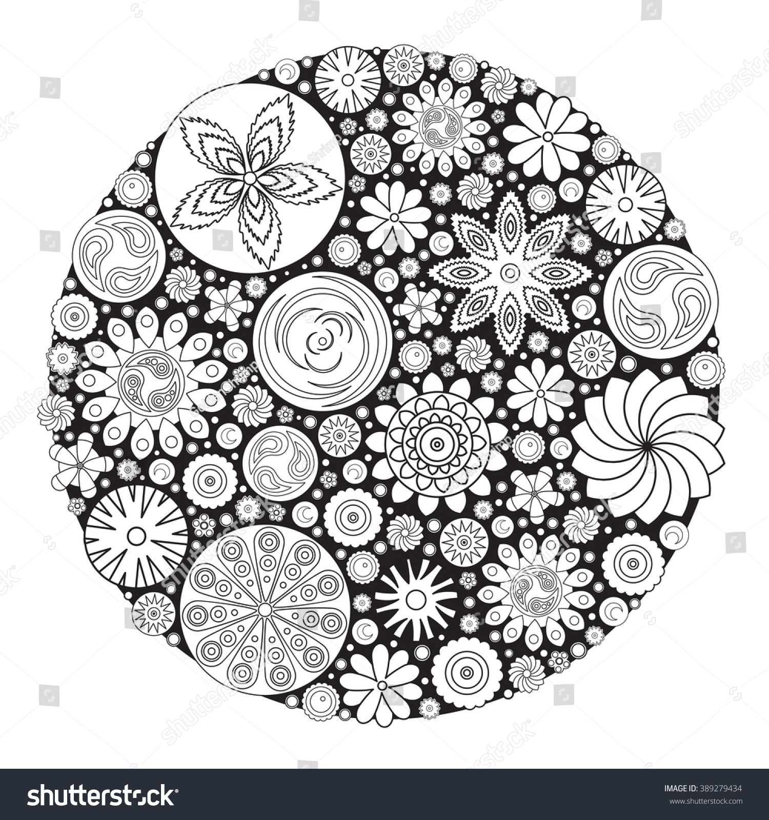 Coloring book grown up - Flower Design For Coloring Book For Grown Up An Adult Coloring Book Floral Drawing For
