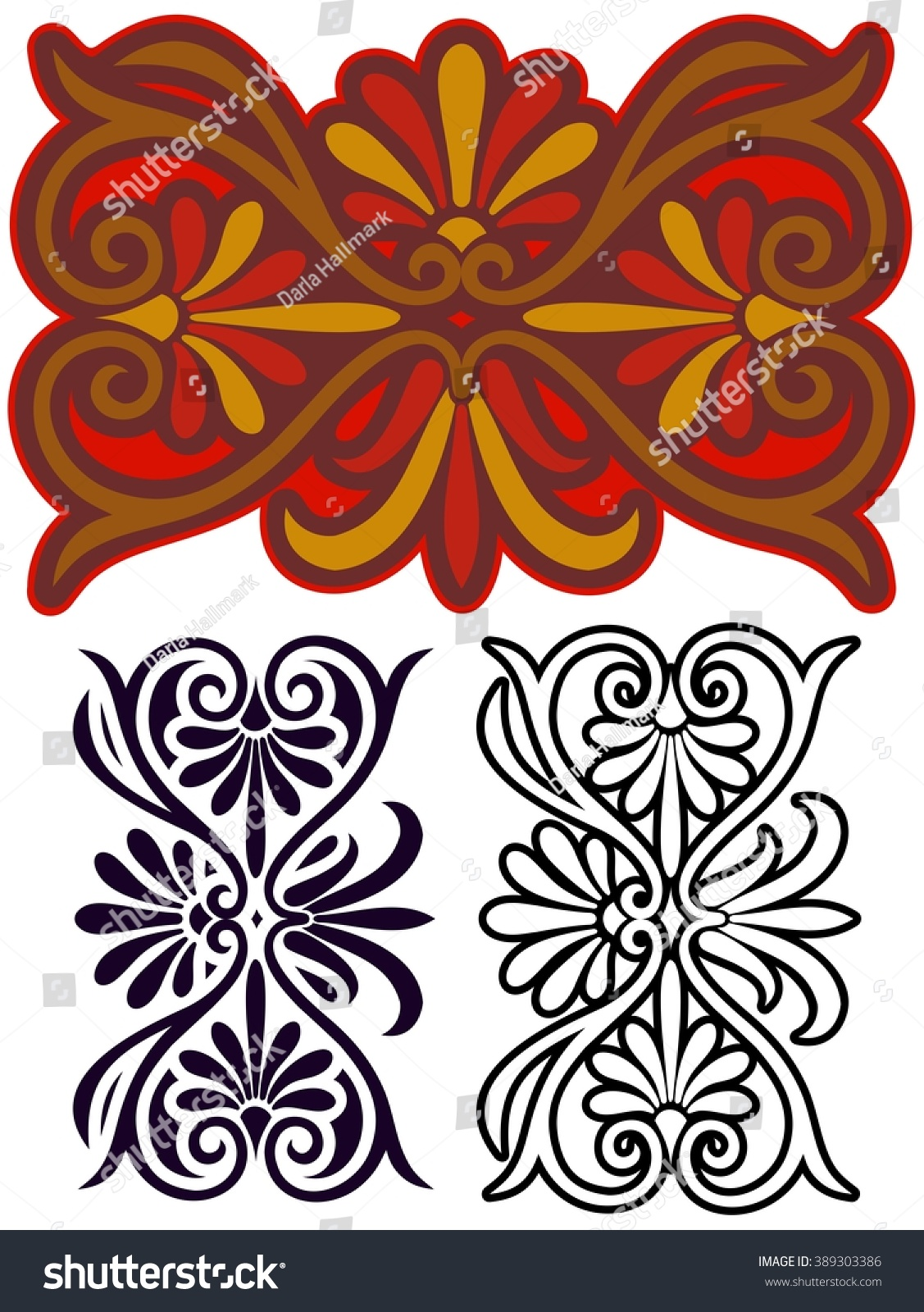 Decorative Art Nouveau Style Motif Inspired By Ancient Greek Ornaments