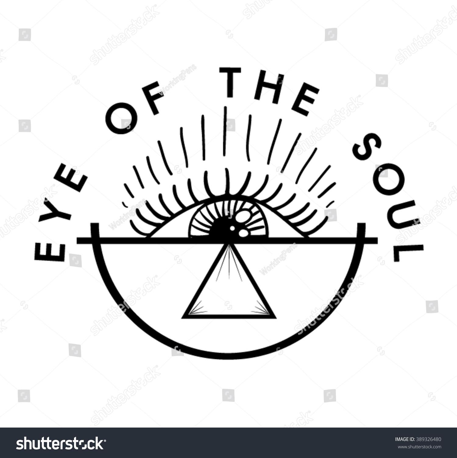 Eye Symbol Geometric Shapes Text Vector Stock Vector Royalty Free