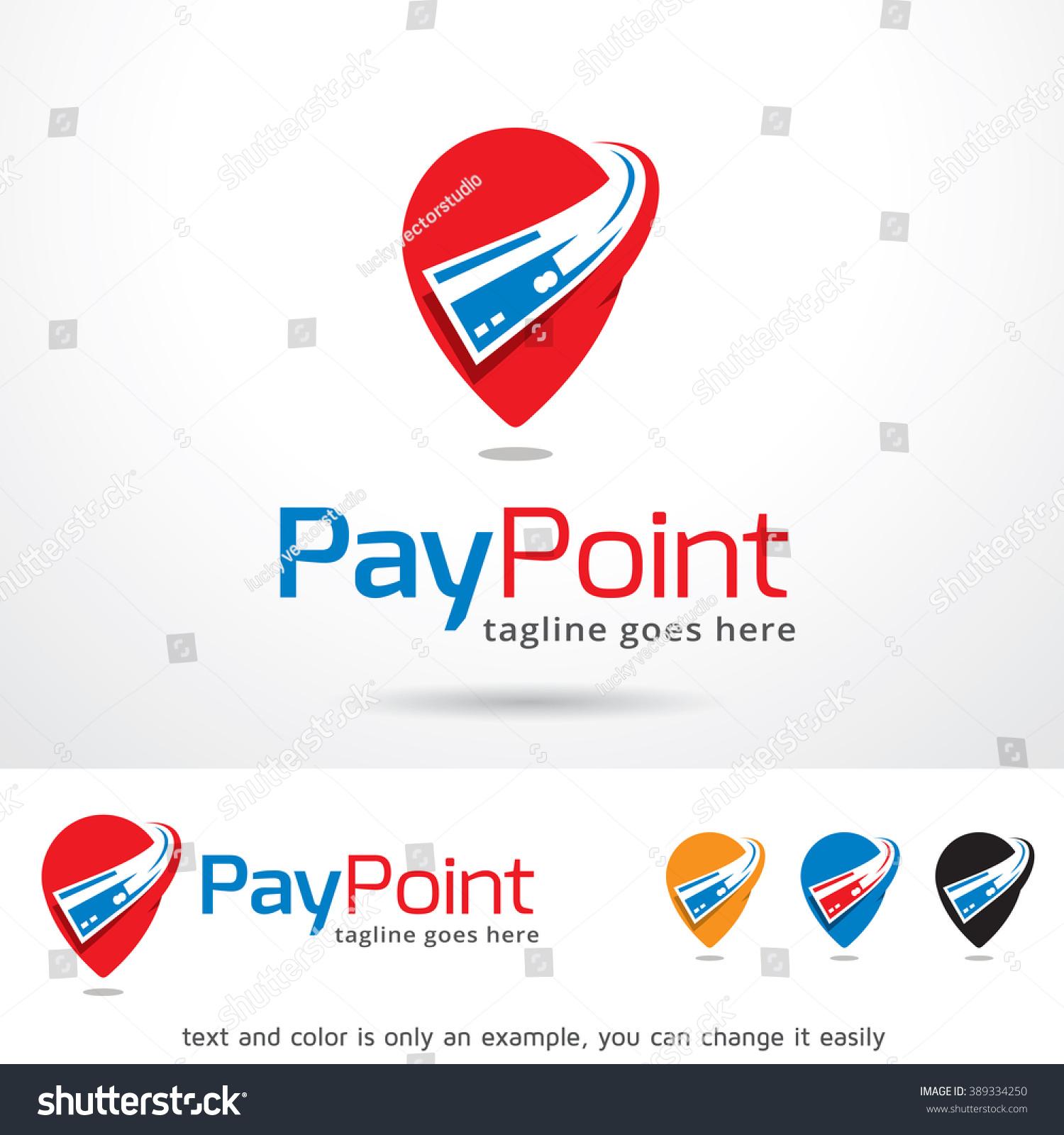 Pay Point Logo Template Design Vector Stock Vector (Royalty Free