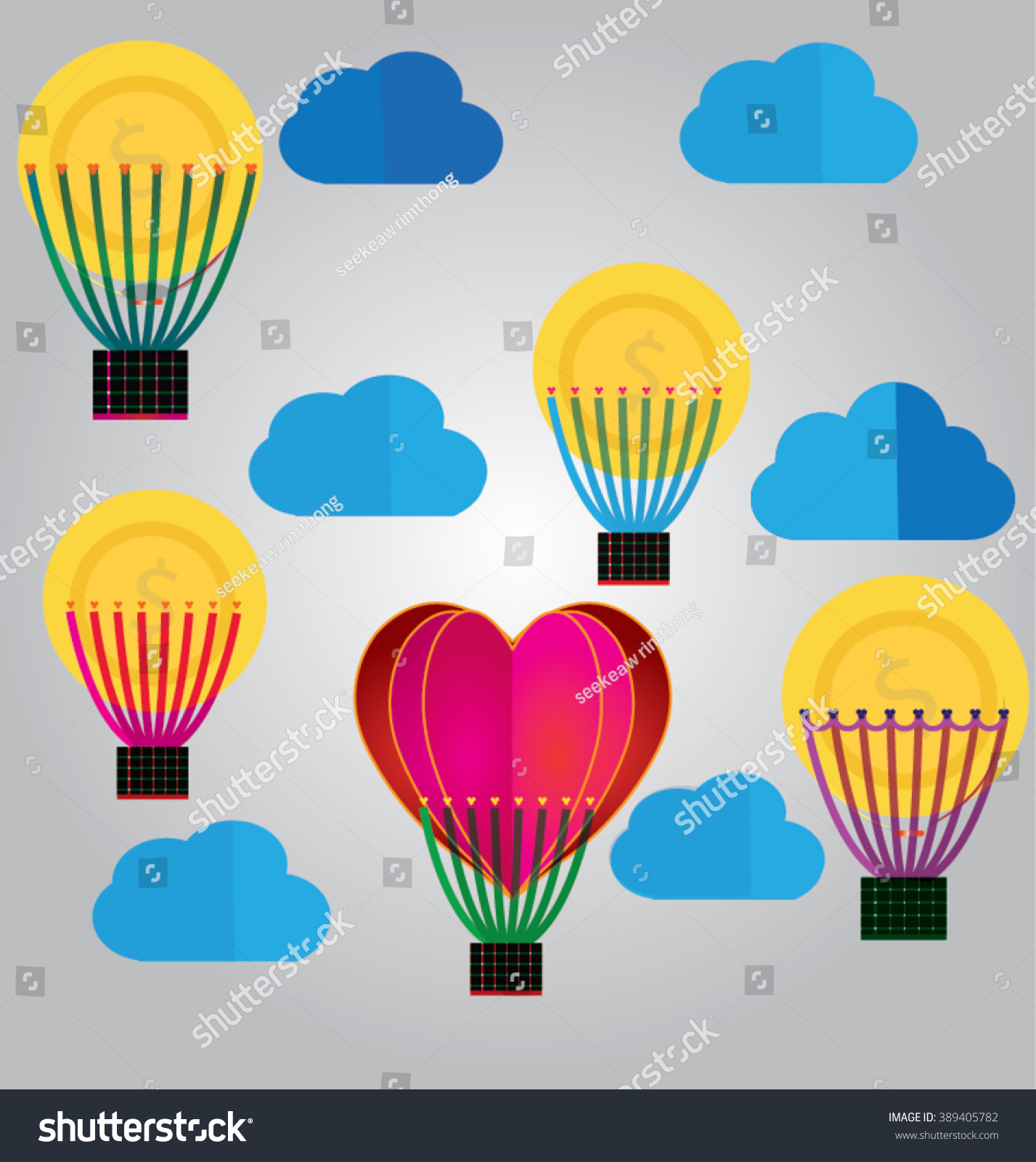 Origami made hot air balloon money stock vector 389405782 origami made hot air balloon money air balloon and money jeuxipadfo Choice Image