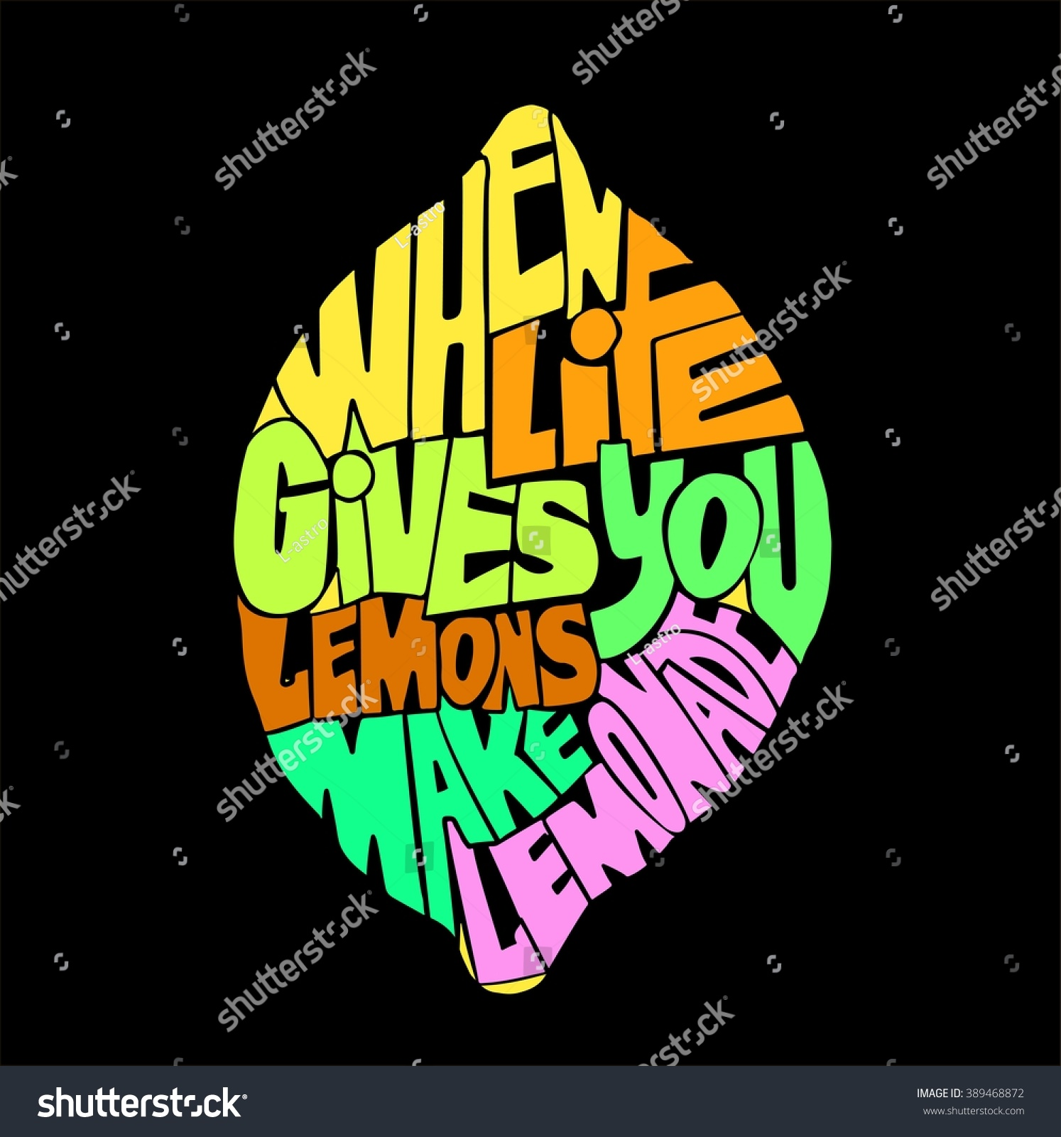 Handdrawin Lettering When Life Gives You Stock Vector 2018
