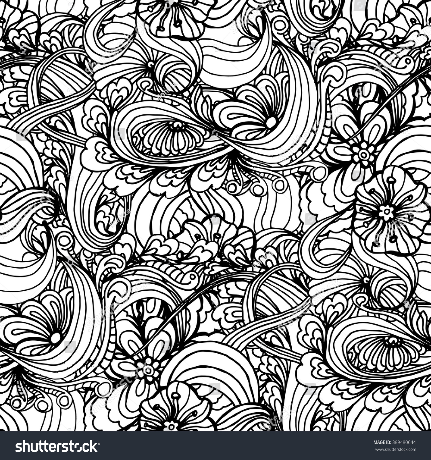 coloring book page design pattern mandala stock vector 389480644