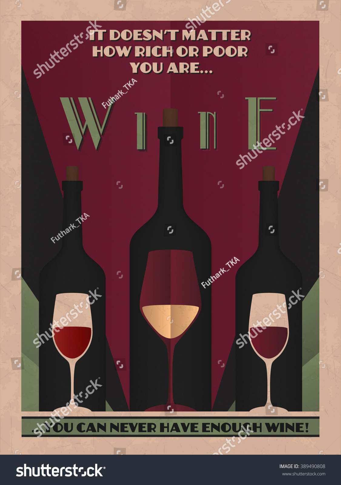 Available Here Etsy Vintage Poster Art Stock Vector Royalty Free 389490808