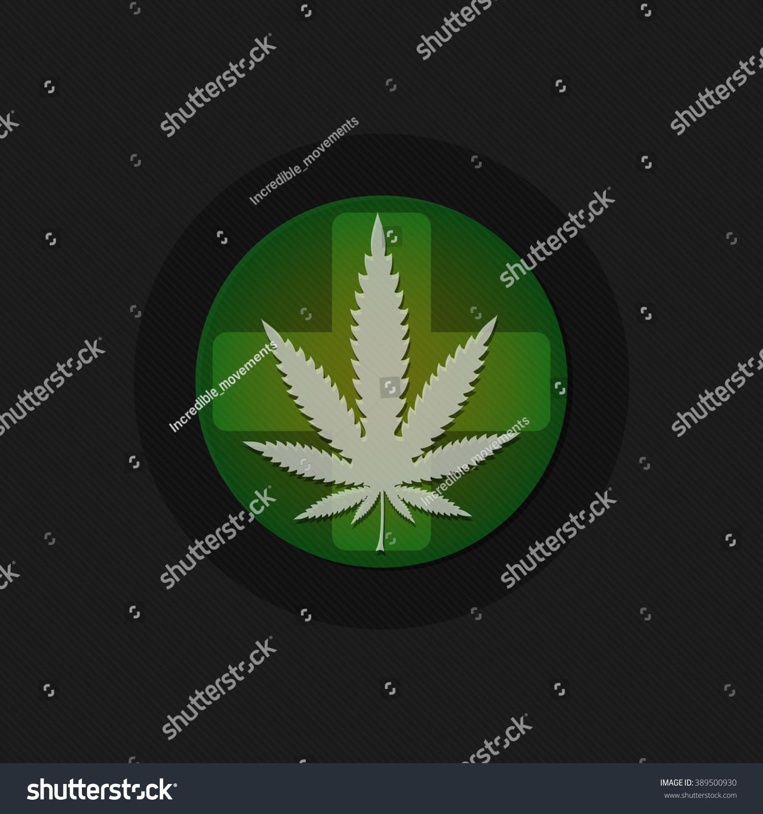 Medicine marijuana leaf on cross symbol stock vector 389500930 medicine marijuana leaf on cross symbol marijuana background biocorpaavc