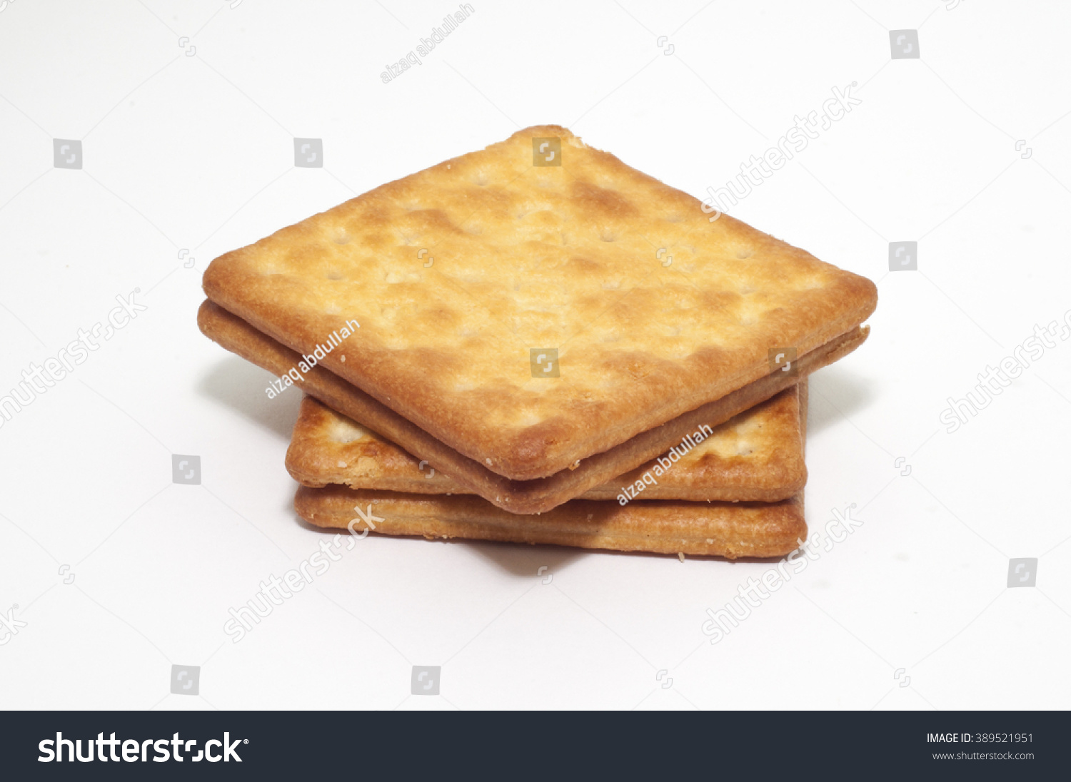 Selective Focus Cream Cracker Biscuits On Stock Photo (Edit Now