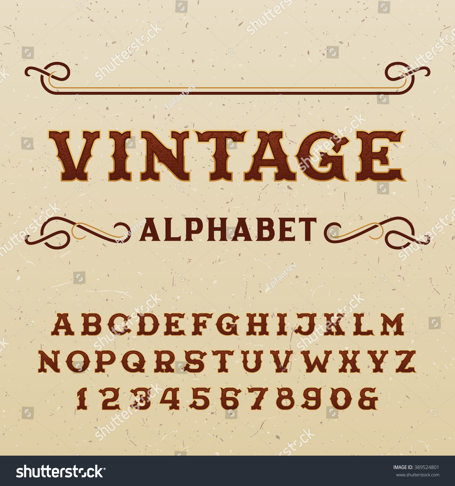 Vintage alphabet font type letters numbers stock photo photo vintage alphabet font type letters and numbers in western style on the distressed background altavistaventures Image collections