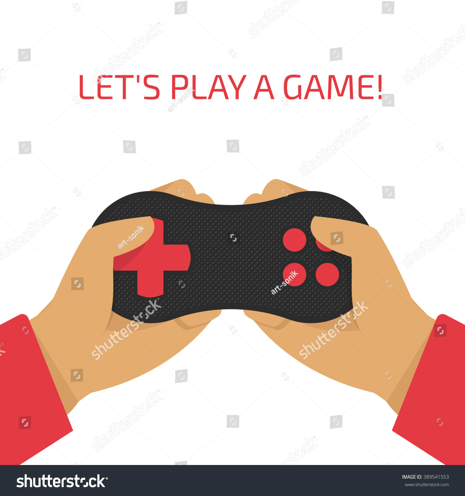 Vector Illustration Game Joystick Their Hands Stock Royalty Double Pad Transparant Wellcome Of A In Gamer Holding Gamepad
