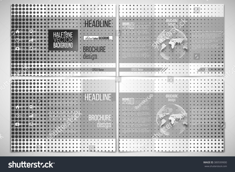Vector Set Trifold Brochure Design Template Stock Vector HD (Royalty ...