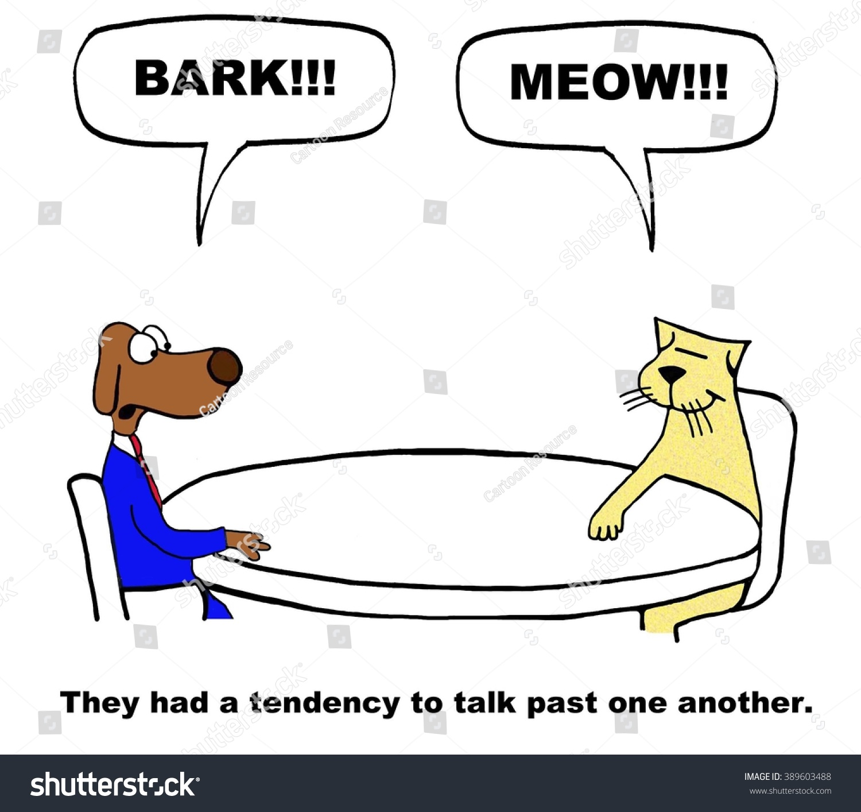 Business Cartoon About Lack Communication Stock Illustration ...