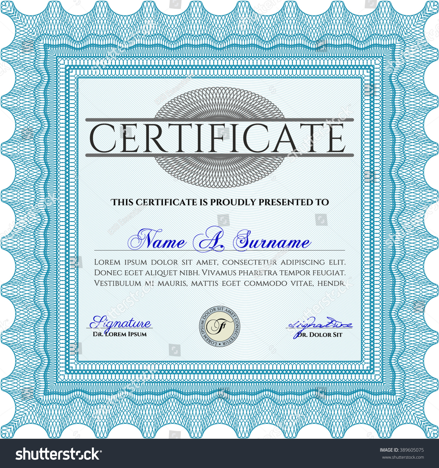 Blue certificate completion vector job reference letter template light blue certificate template diploma template stock vector stock vector light blue certificate template or diploma yadclub Gallery