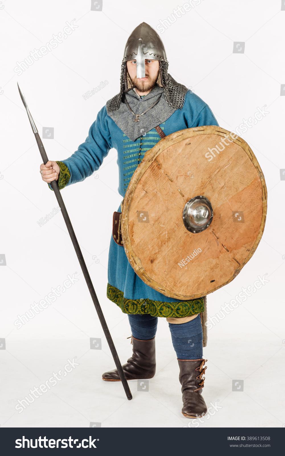 Medieval slavic soldier looking at… Stock Photo 389613508 - Avopix com