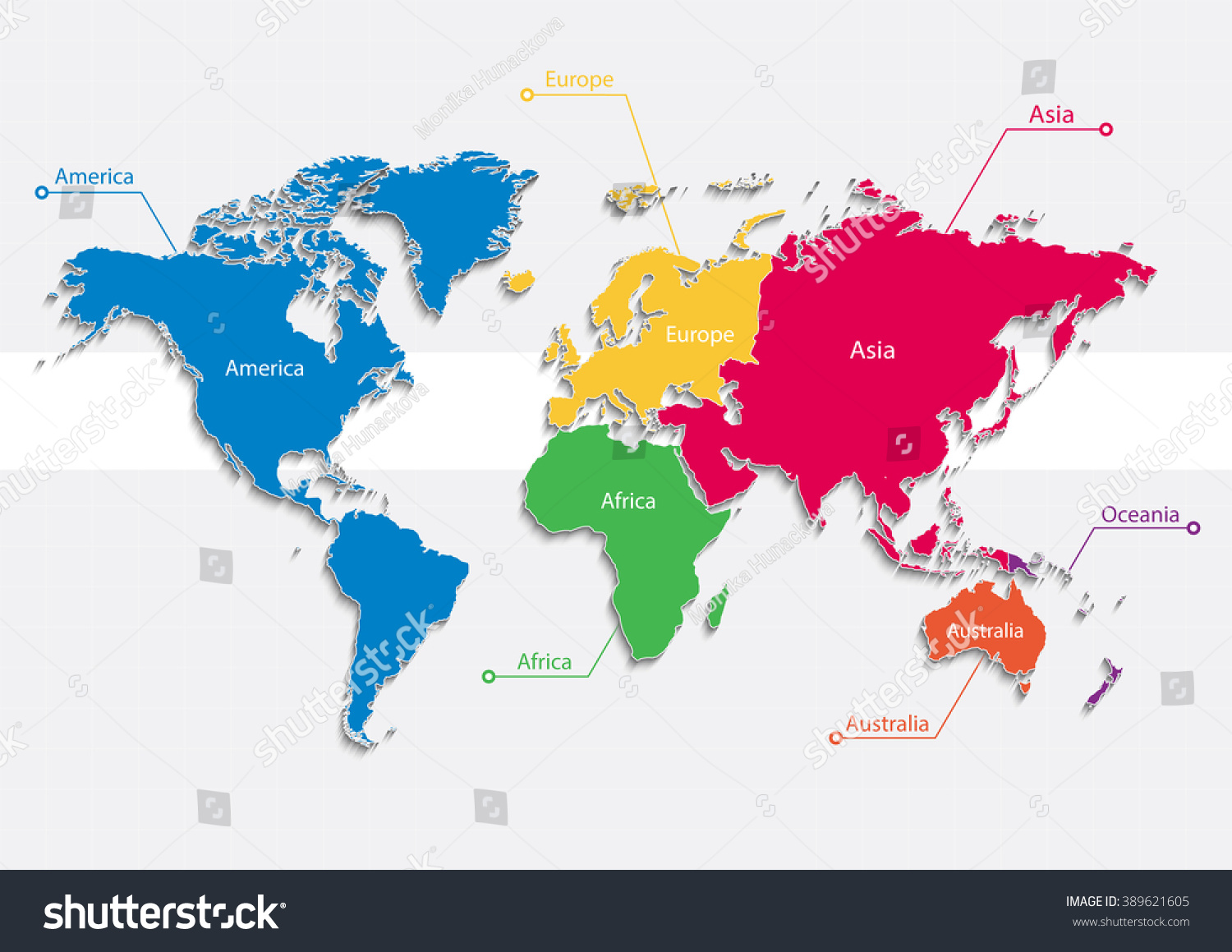 World map europe asia maps download world map map europe world map continents colors vector individual stock vector gumiabroncs Images