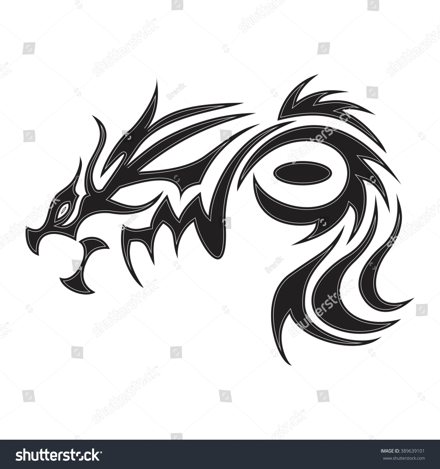 Totem symbol dragon symbol tattoos vector stock vector 389639101 totem symbol of the dragon symbol tattoos vector illustration biocorpaavc Image collections