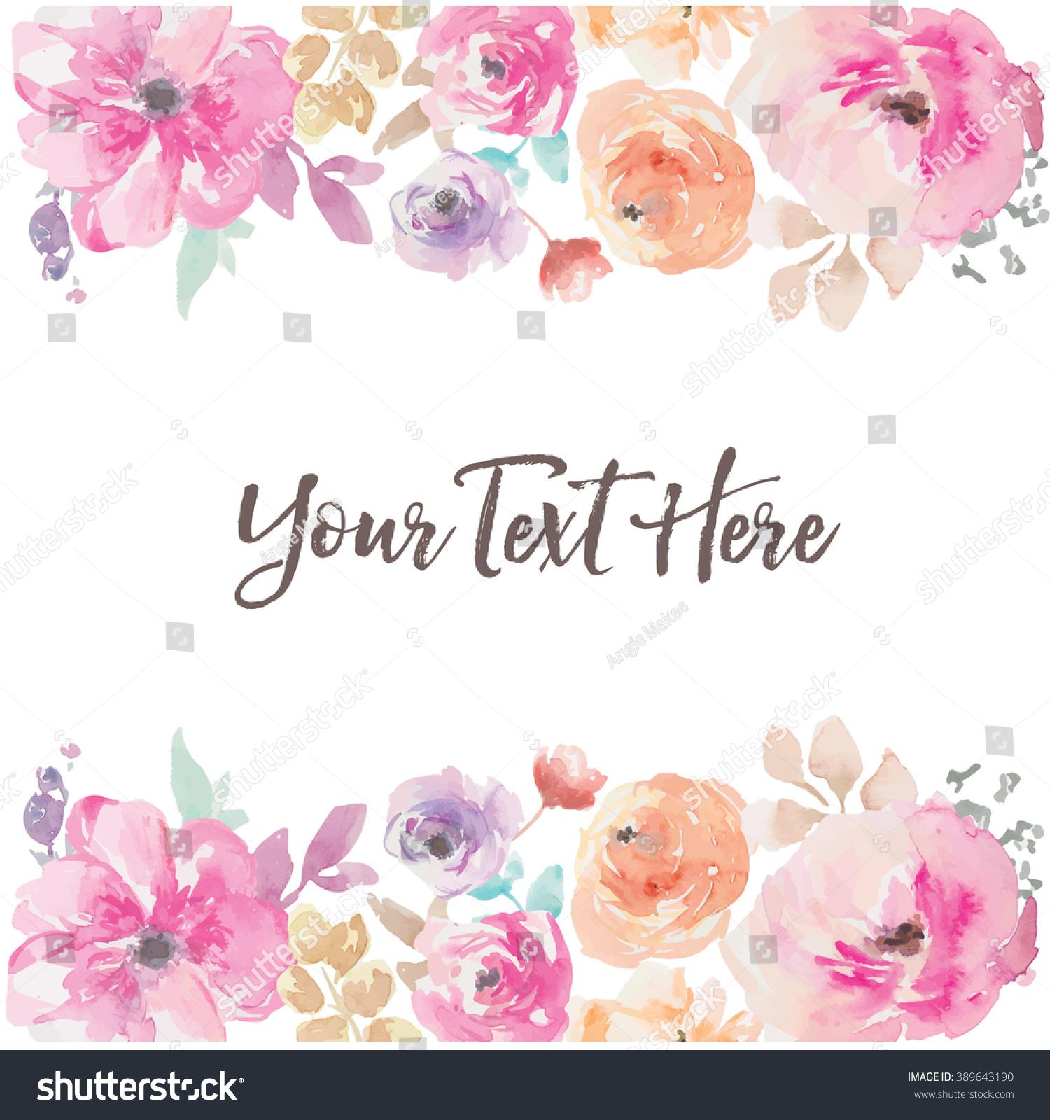 Watercolor Flower Background Vector Imagem Vetorial De