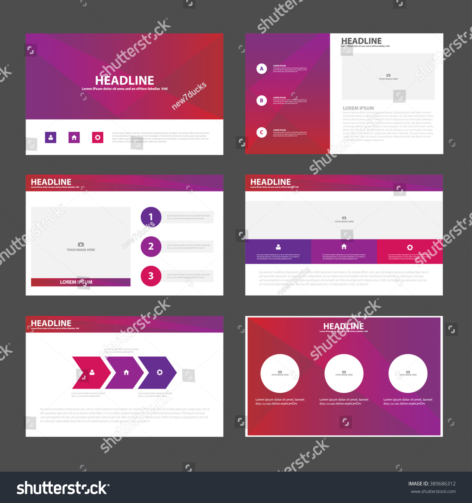purple pink presentation templates annual report stock vector 389686312 shutterstock. Black Bedroom Furniture Sets. Home Design Ideas