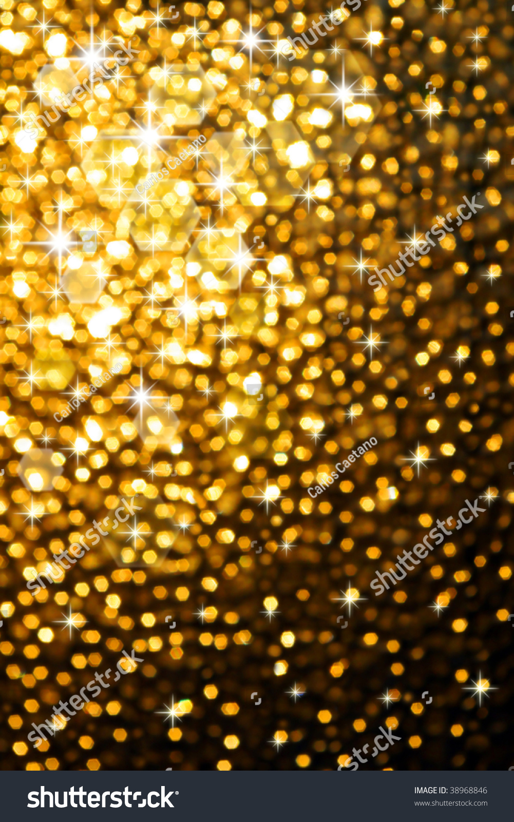 abstract golden background of sparkling christmas lights - Sparkling Christmas Lights