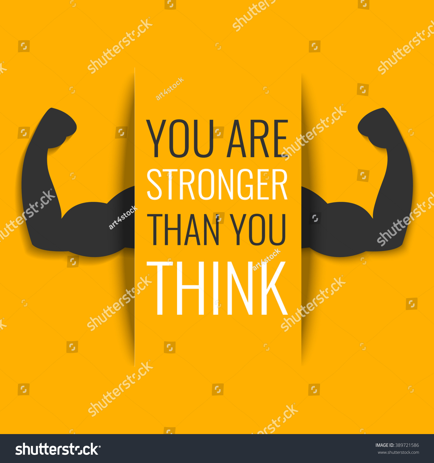 You Stronger Than You Think Inspirational Stockvector Rechtenvrij