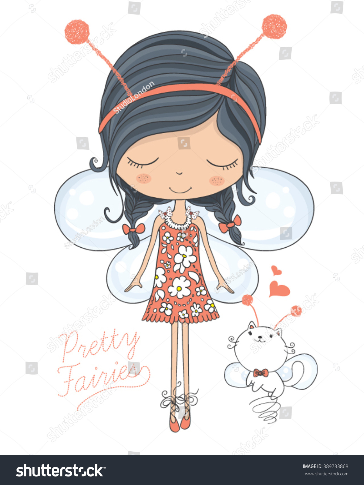 fairy vectorcute vectortshirt printbook illustrations stock