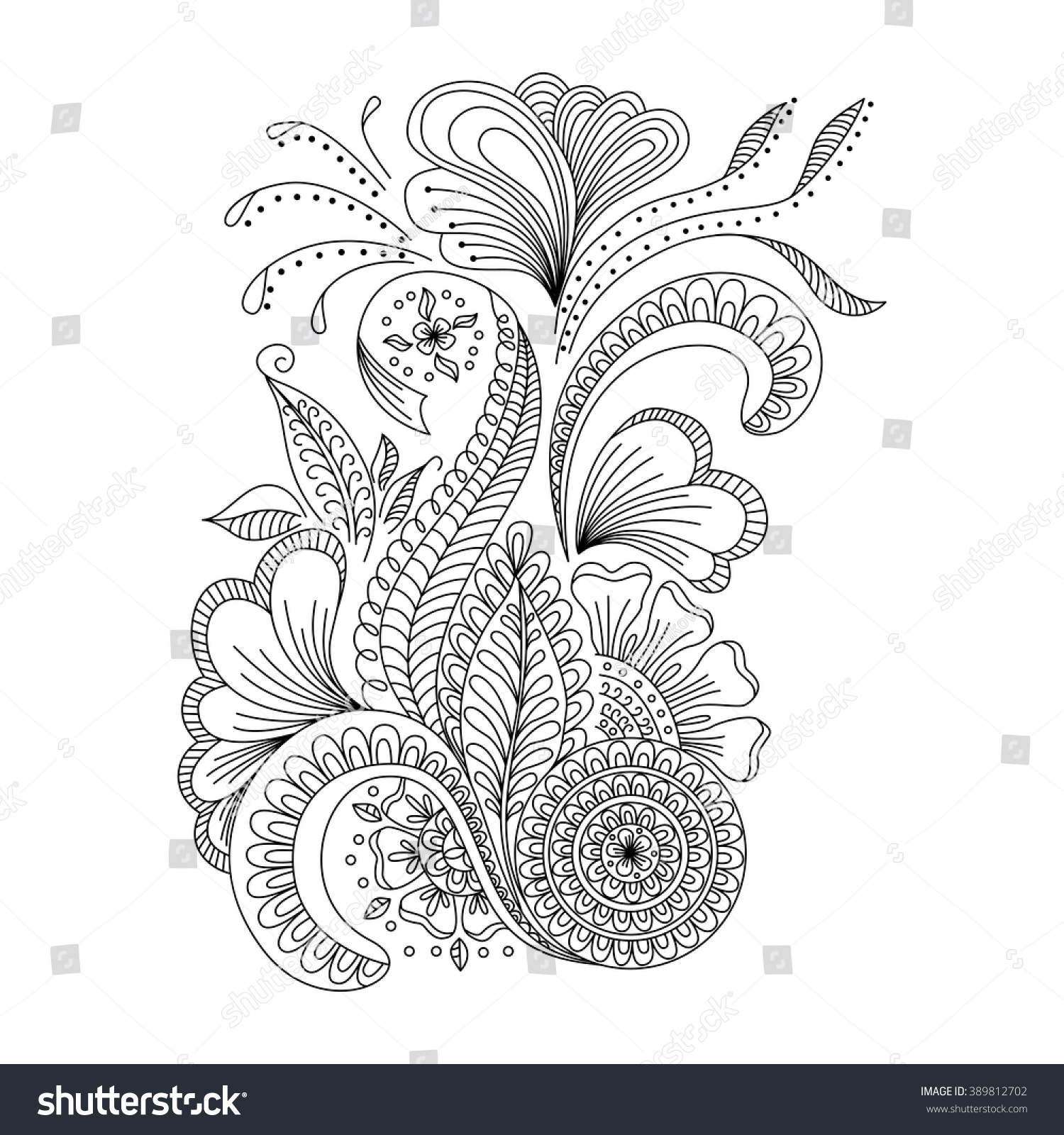 Cover page designs for school projects note book cover page design - Hand Drawn Floral Background In Doodle Or Henna Style Design For Cover Bag