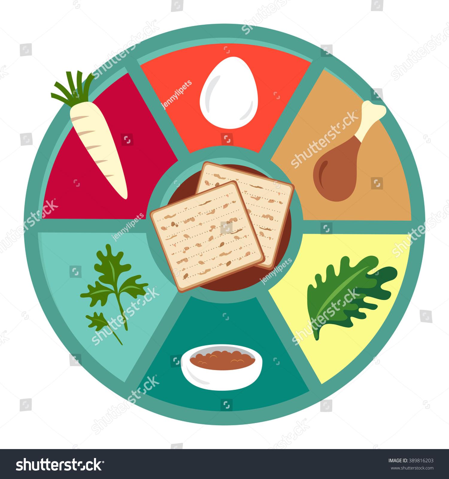 passover seder flat icons happy jewish stock vector 389816203