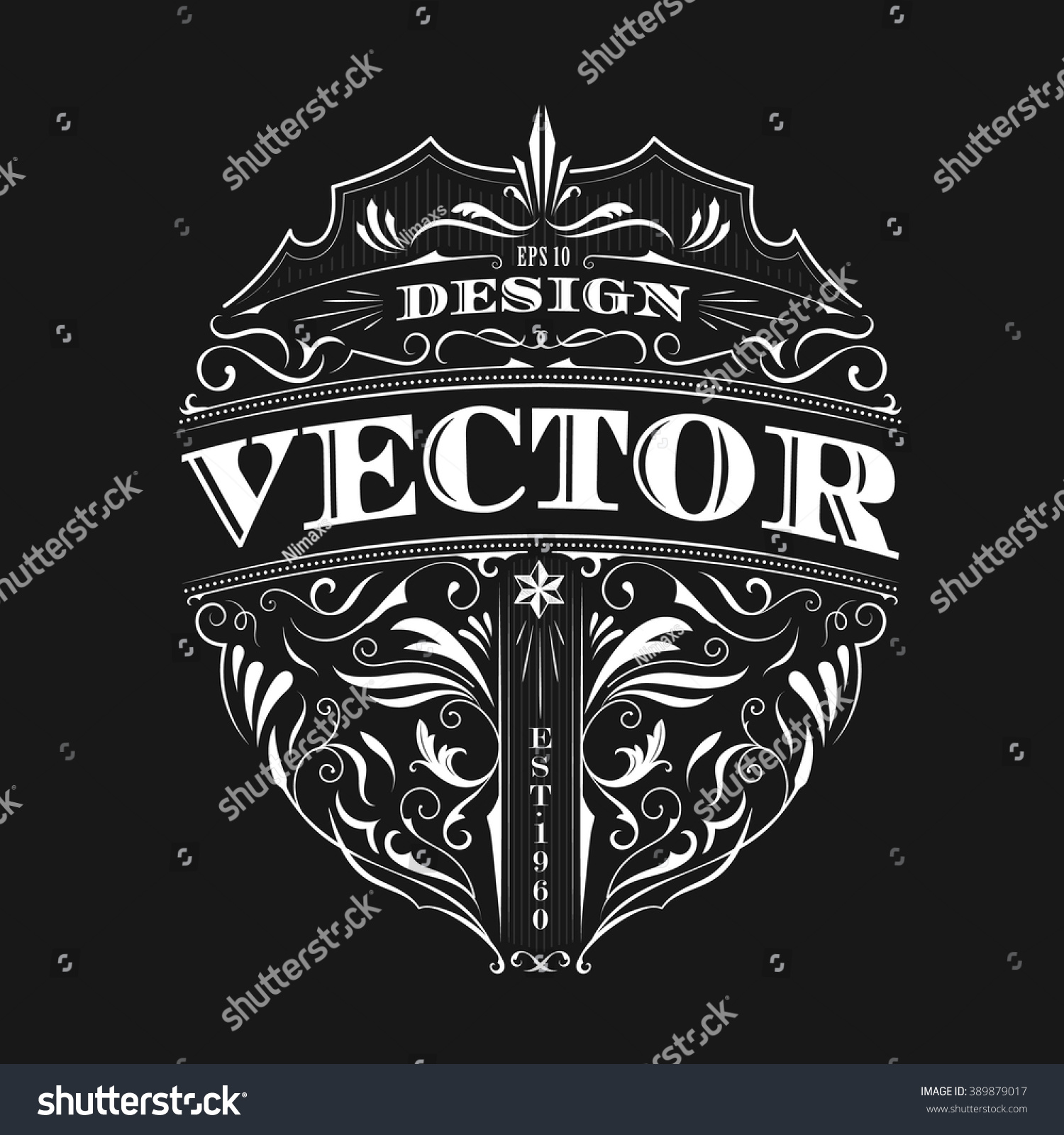 Vintage Badge Antique Label Typography Design Vectores En ...