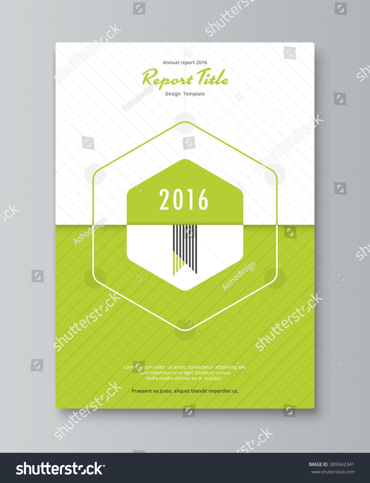 Annual Report Book Cover Design : Hexagon annual report cover design book stock vector