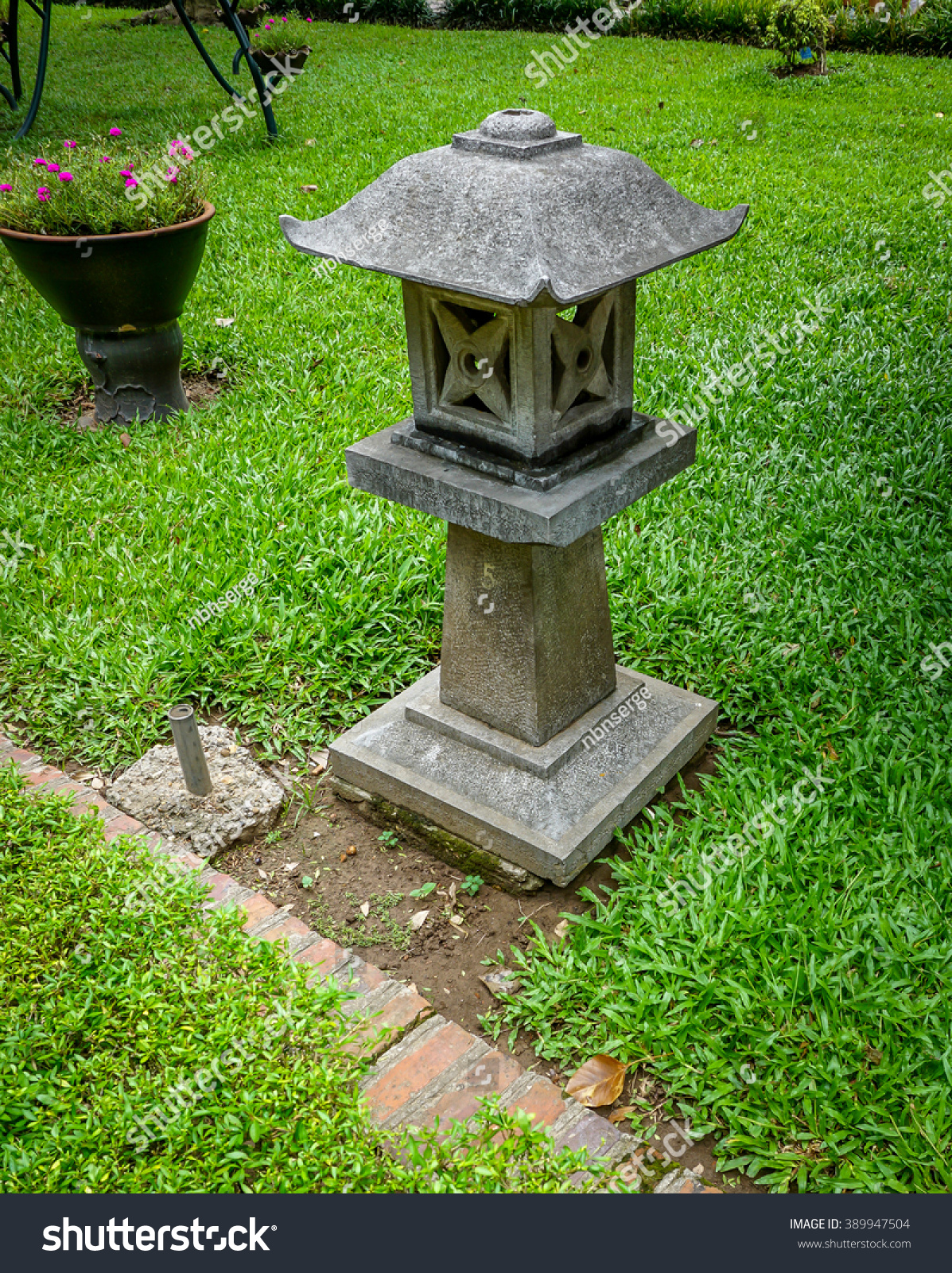Zen Decoration Stone Lamp Van Mieu Stock Photo 389947504 ... for Temple Stone Lamp  303mzq
