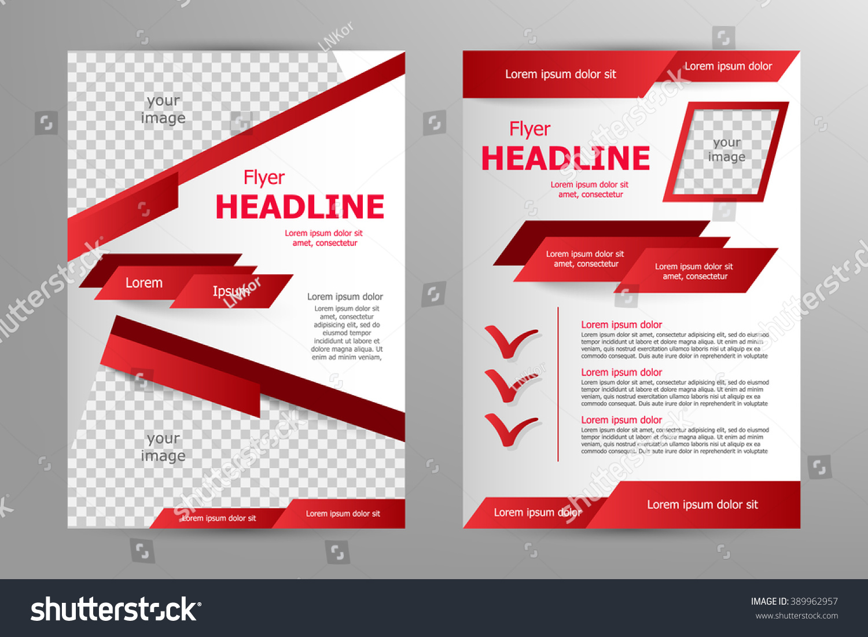 vector flyer template design business brochure stock vector vector flyer template design for business brochure leaflet or magazine cover red color