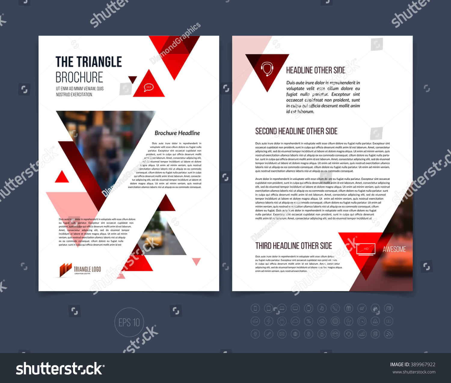 brochure template layout cover design annual stock vector royalty