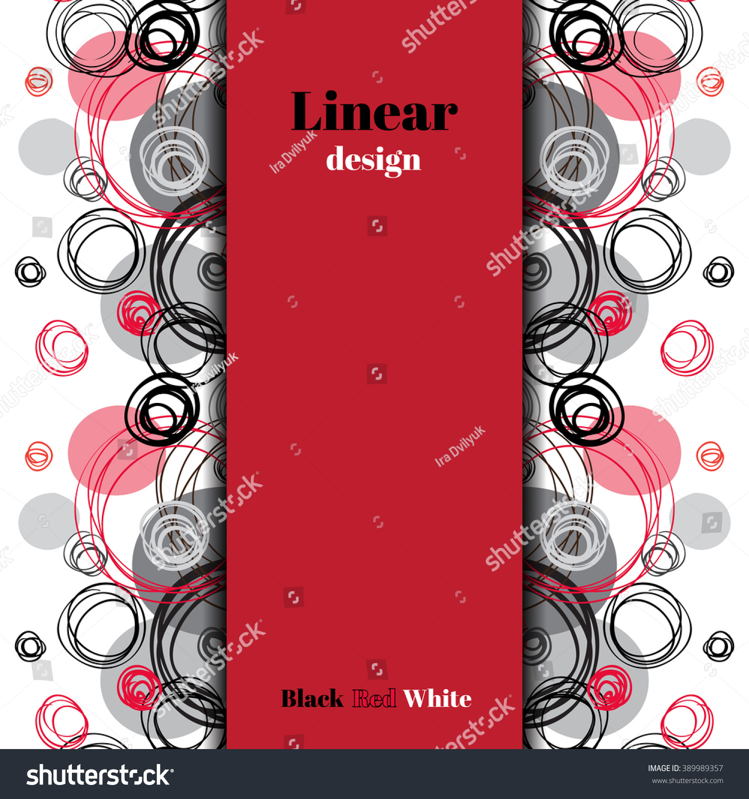 Background image vertical center - Abstract Geometric Background Vertical Center Border Stripe Design Black Red Gray Hand Drawn Intersecting