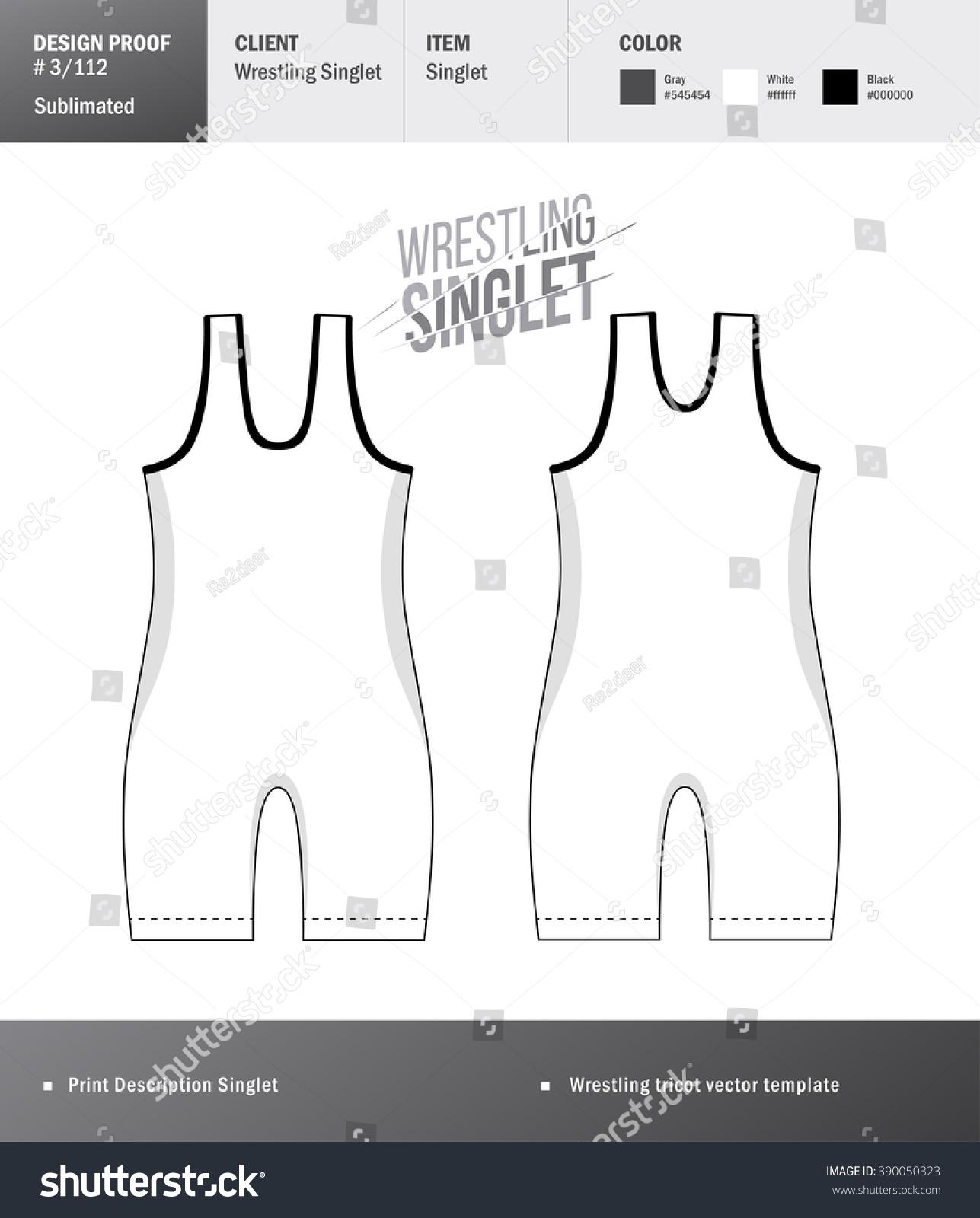 Singlet Vector Template Wrestling Tricot Design Stock Vector