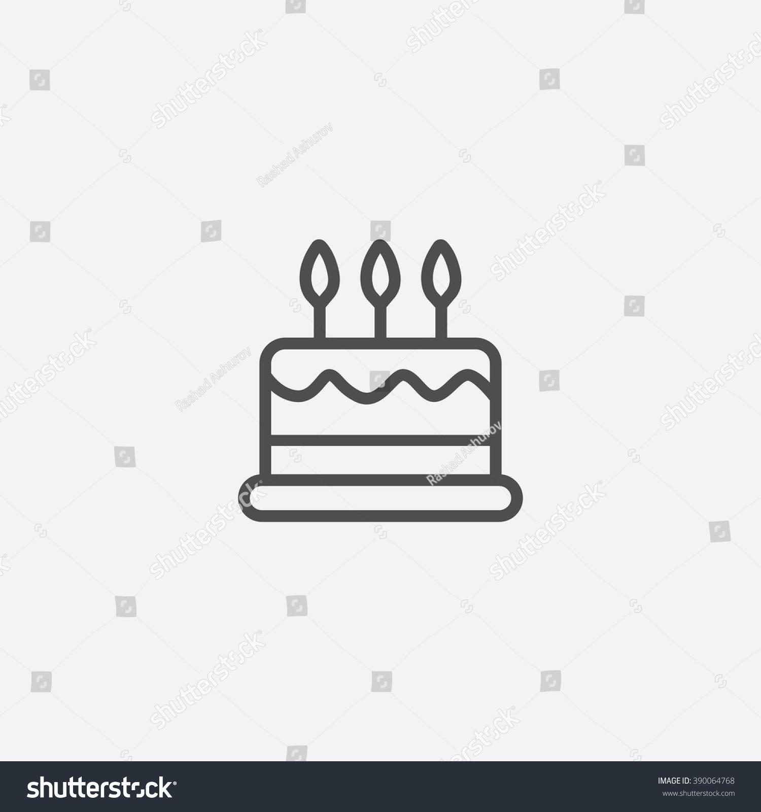 Cake Line Art Vector Free Download : Line Cake Icon Stock Vector 390064768 - Shutterstock