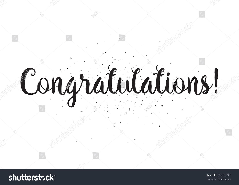 congratulations inscription greeting card calligraphy hand の