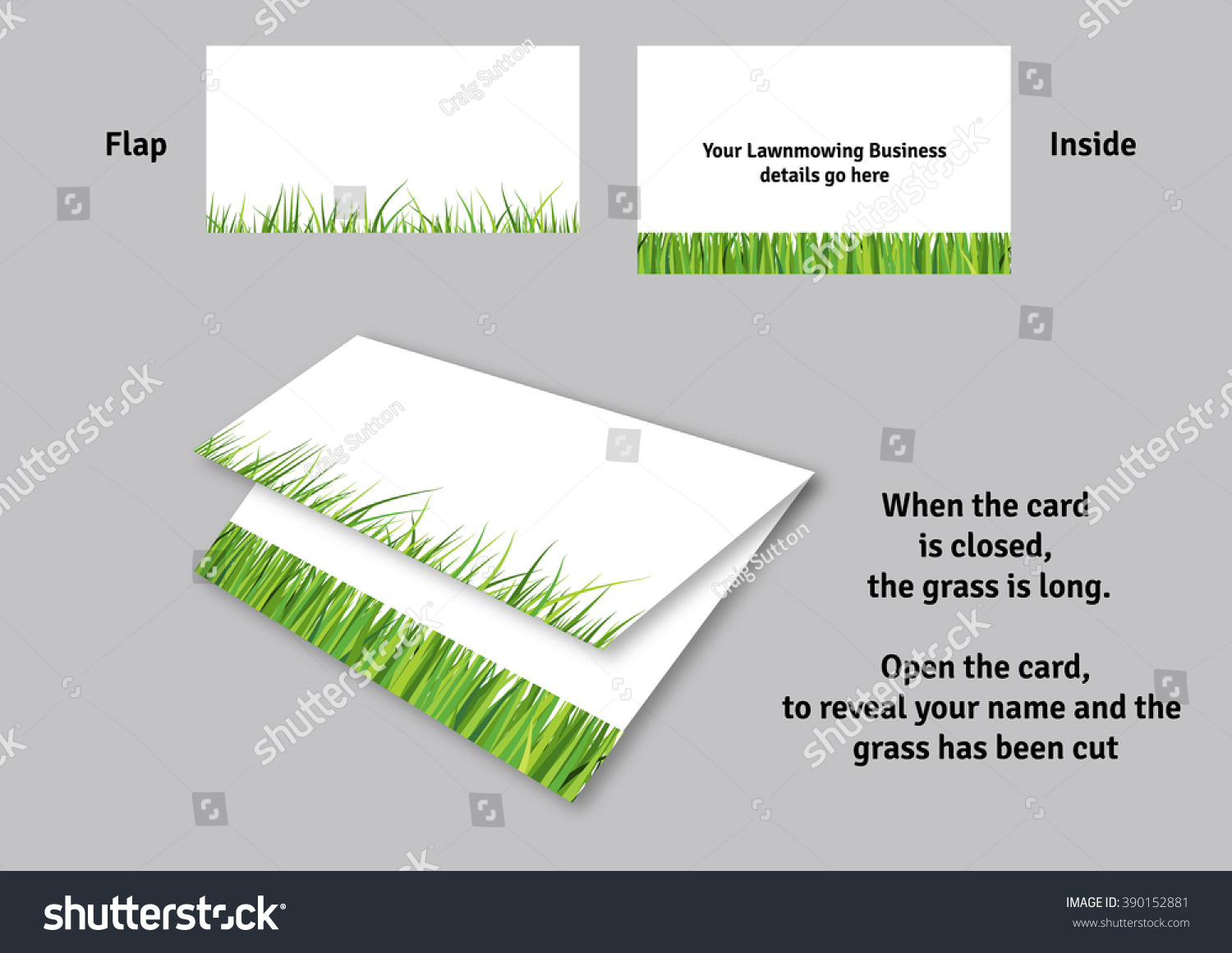 Lawn Mowing Business Card Template Stock Vector (Royalty Free ...