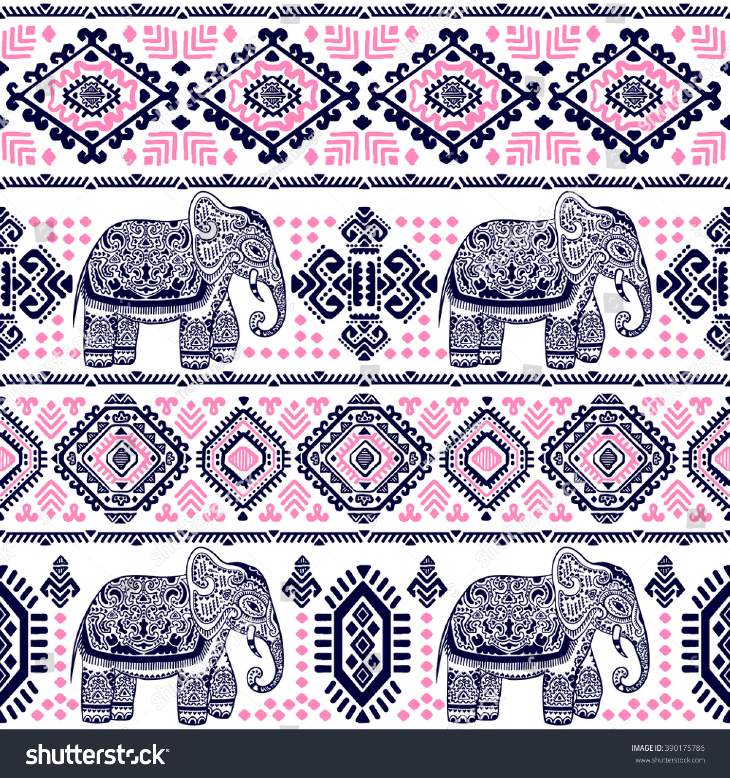 Lotus designs coloring book - Vintage Graphic Vector Indian Lotus Ethnic Elephant African Tribal Ornament Can Be Used For