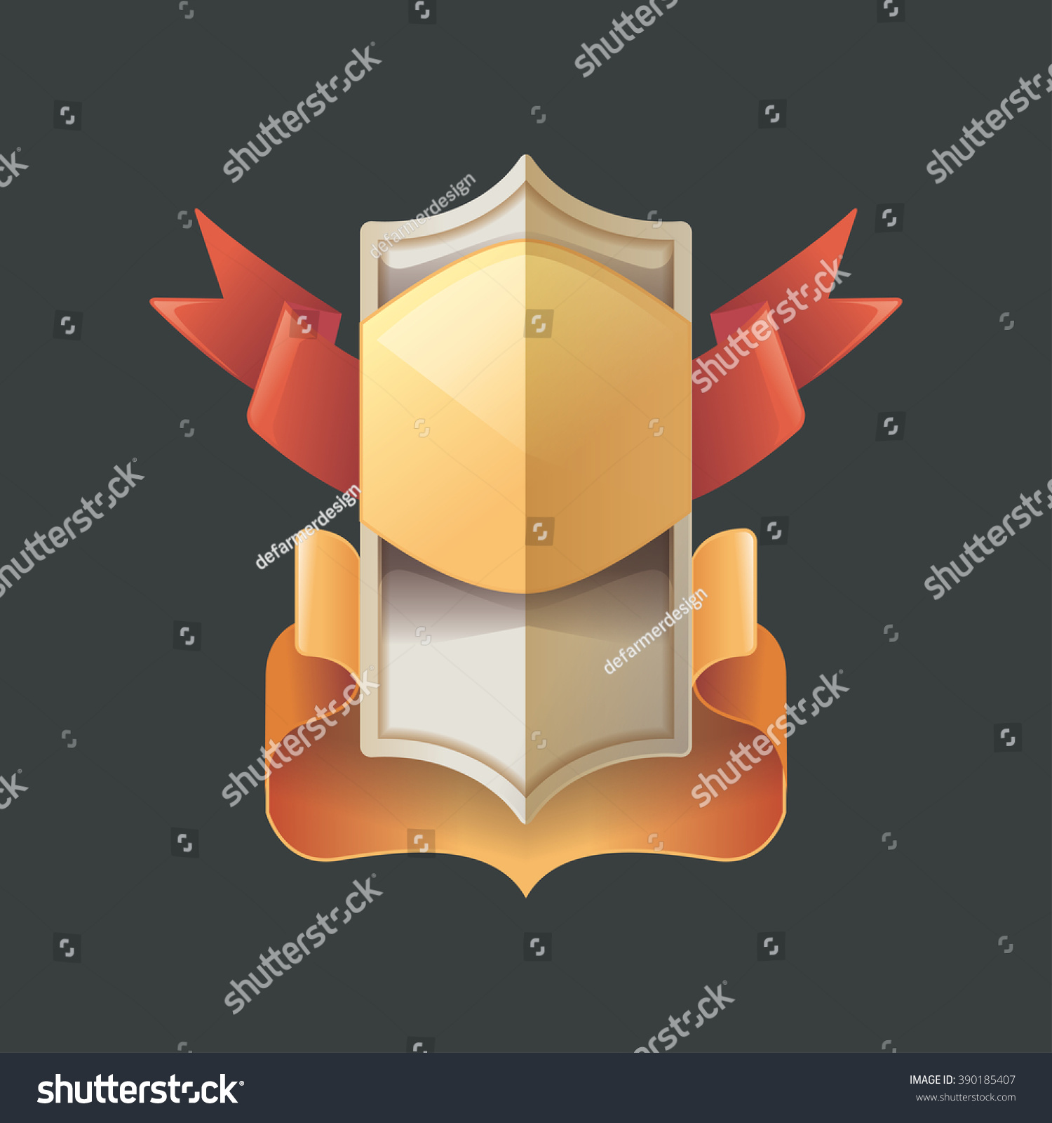 Vintage Badge Realist Label Decoration Blank Stock Vector 390185407