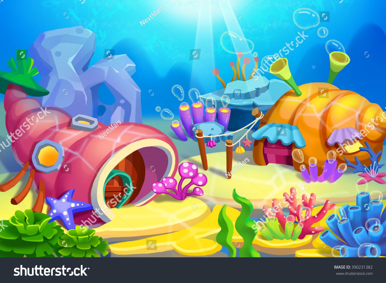 Creative Illustration Innovative Art Underwater Houses ...