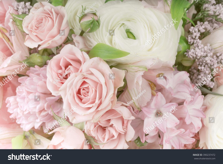 Amazing flower bouquet arrangement close up in pastel colors ez canvas id 390237472 izmirmasajfo