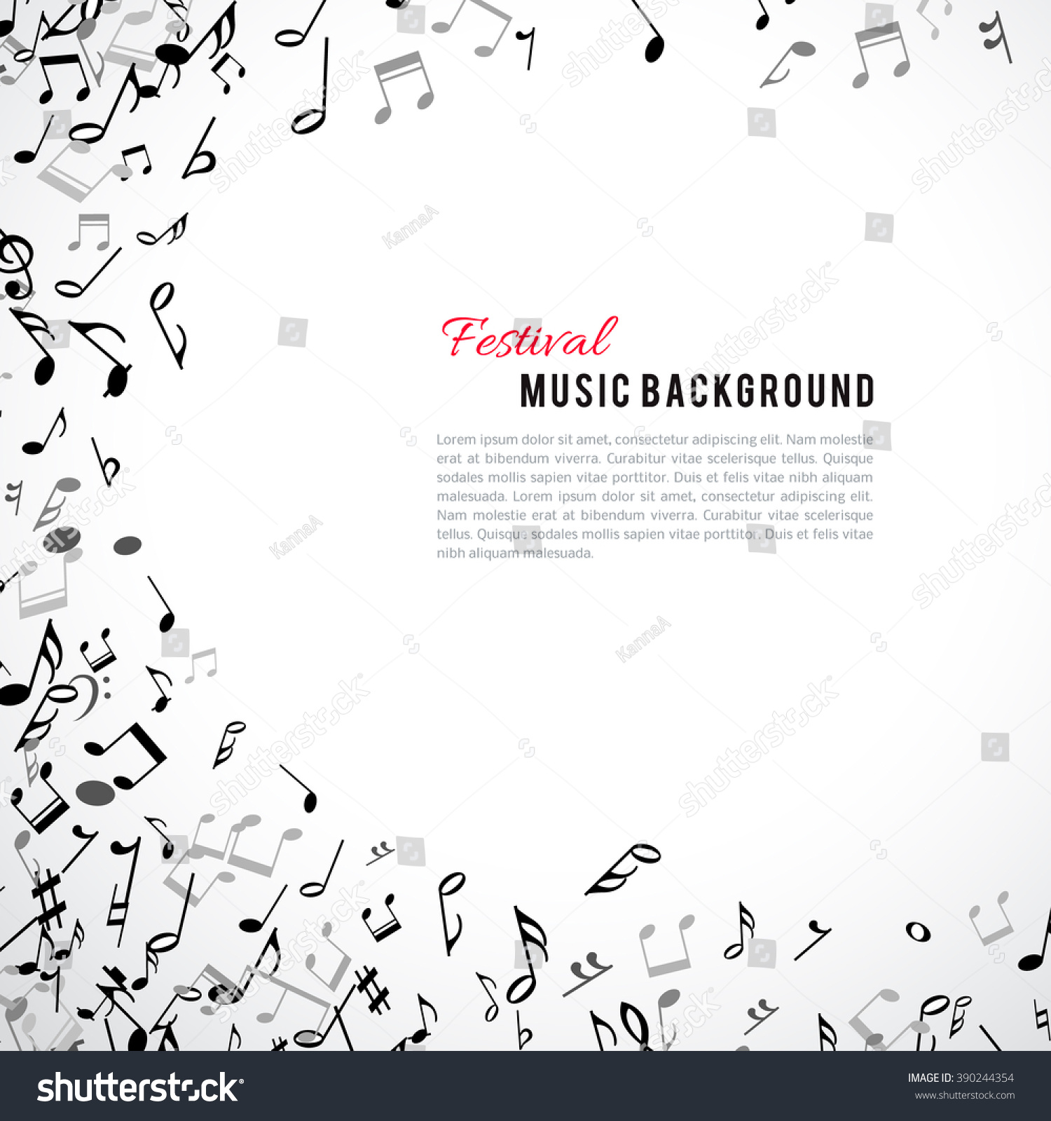 Royalty-free Abstract musical frame and border with… #390244354 ...