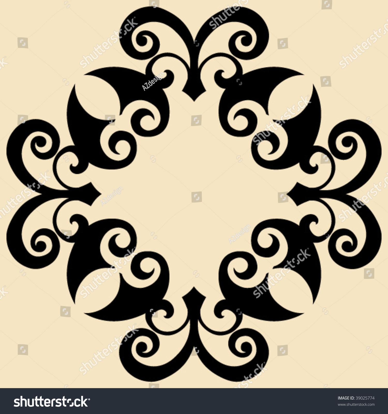 Baroque design element decorative vector ornament for Baroque design elements