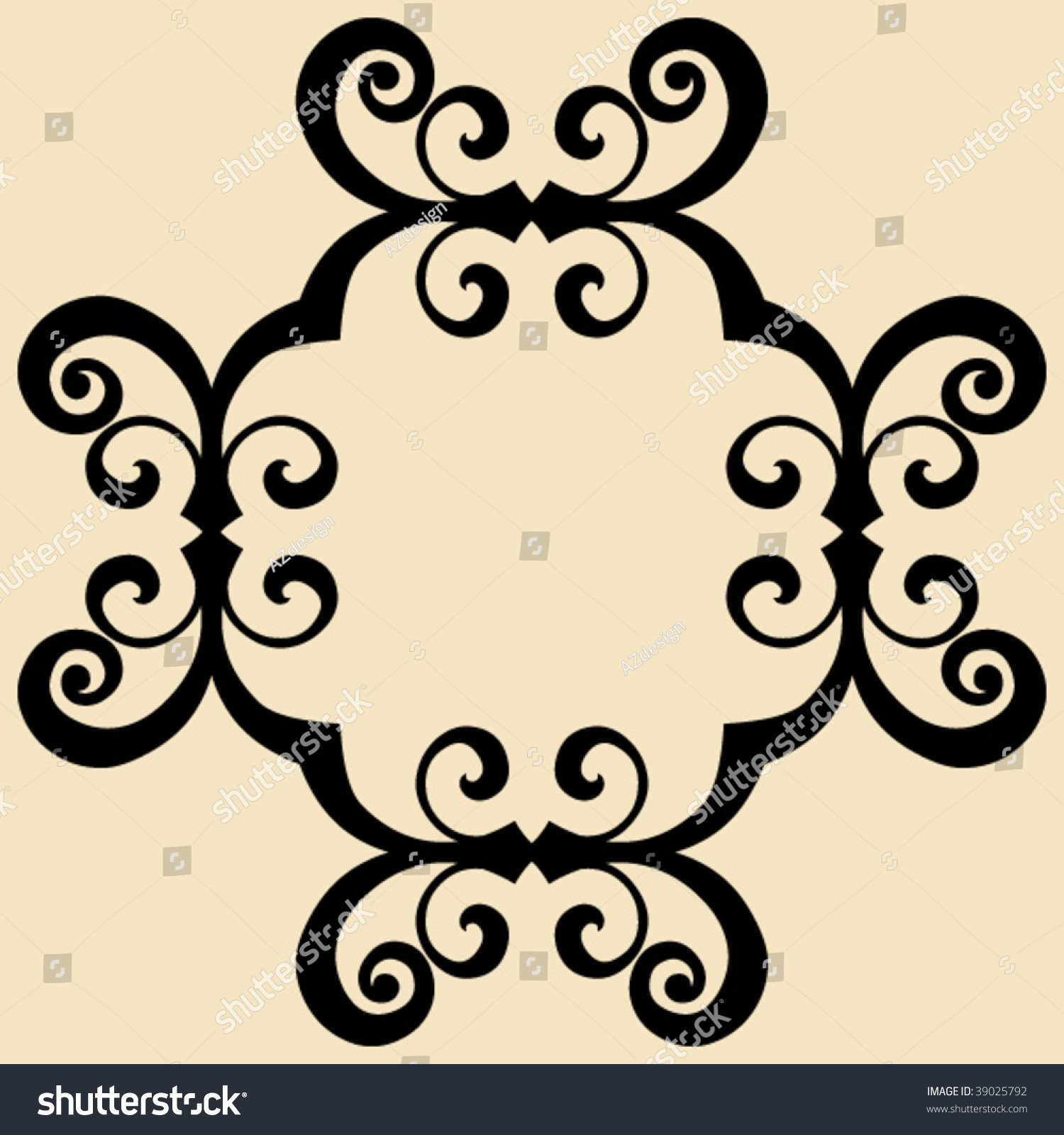 Baroque design element decorative vector ornament stock for Baroque design elements