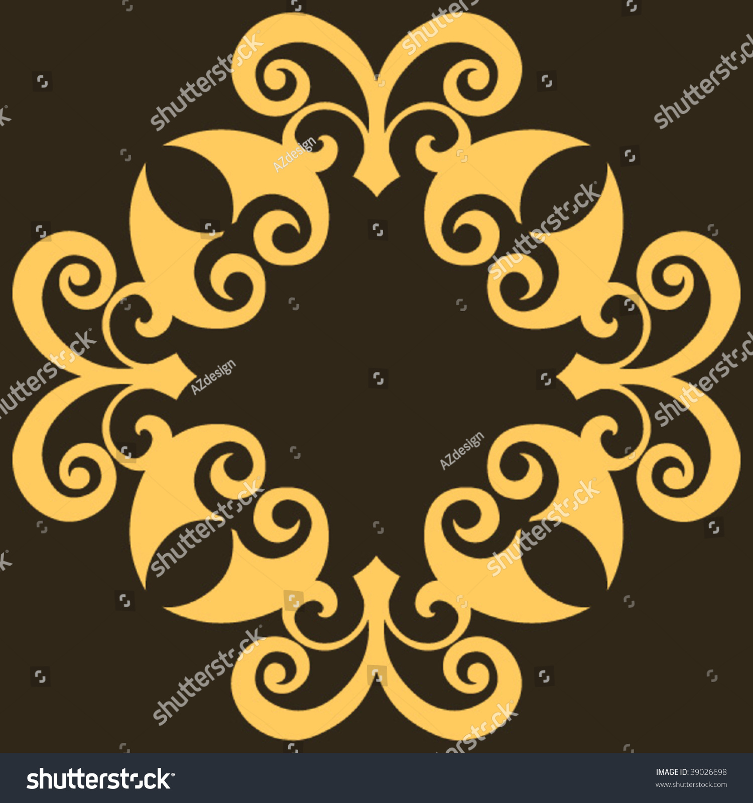 Baroque design element vector decoration 39026698 for Baroque design elements