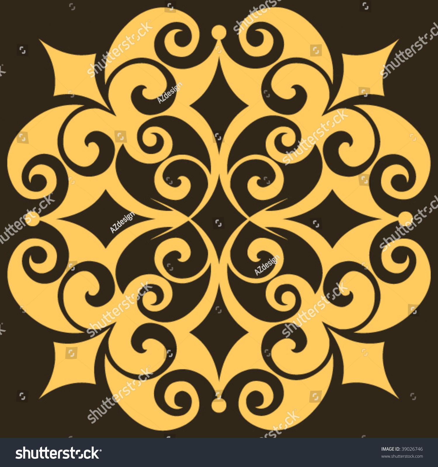 Baroque design element vector decoration 39026746 for Baroque design elements
