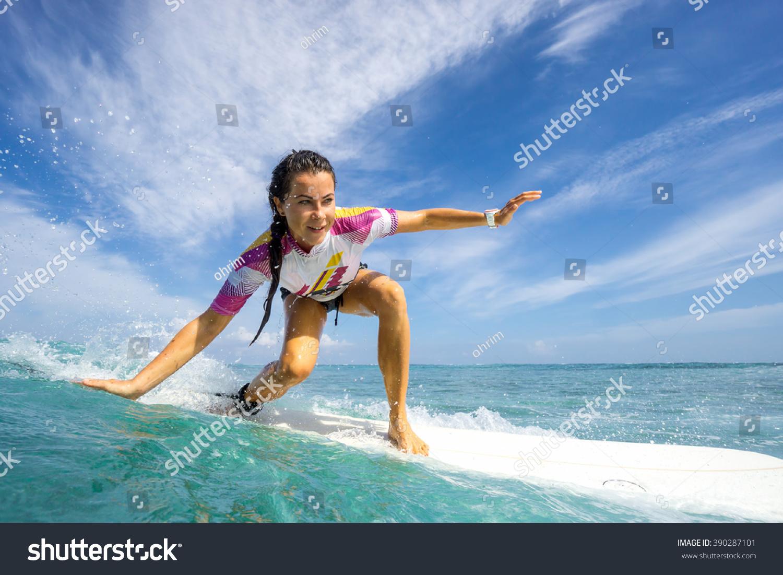 sky surf green bikini Blue