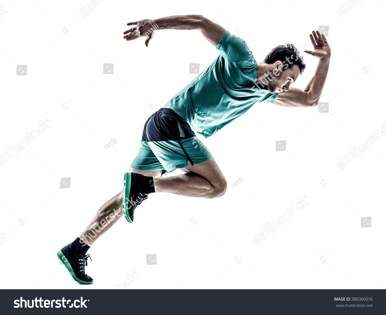 Man Runner Jogger Running Isolated Stock Photo 390360016 ... - photo #49