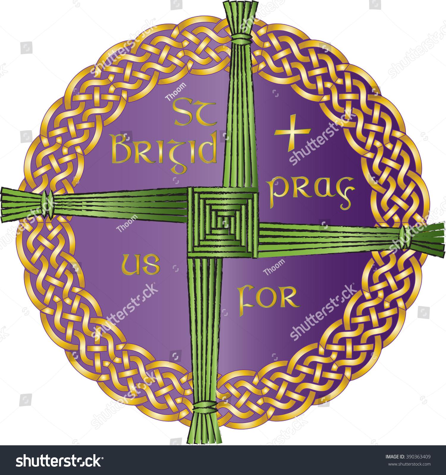 Irish celtic knot ornament cross st stock vector 390363409 irish celtic knot ornament with the cross of st brigid believed to protect against evil biocorpaavc Gallery
