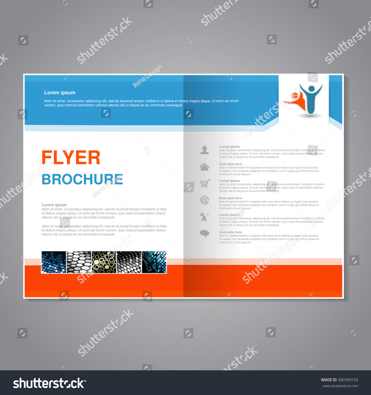 Poster design golden ratio - Vector Modern Brochure Abstract Flyer With Simple Dotted Design Aspect Ratio For A4 Size