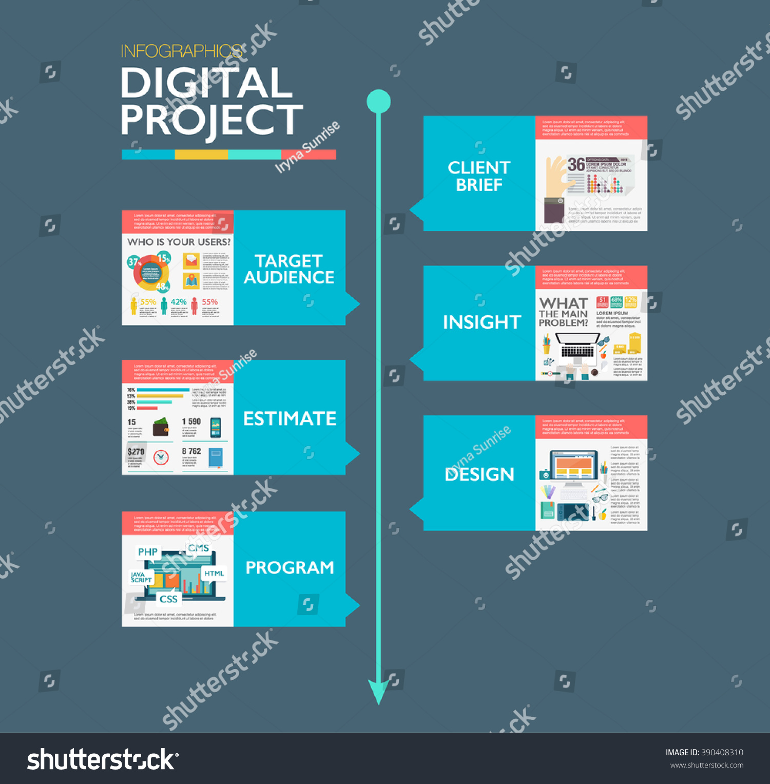 Timeline Infographics Template Material Design Layout Vector – Advertising Timeline Template